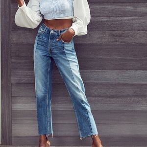 BDG two tone mom jeans urban outfitters
